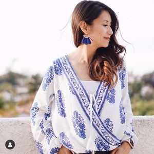 Crossover blouse
